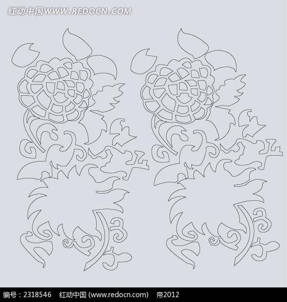 古典花纹底纹简笔画AI素材免费下载 编号2318546 红动网