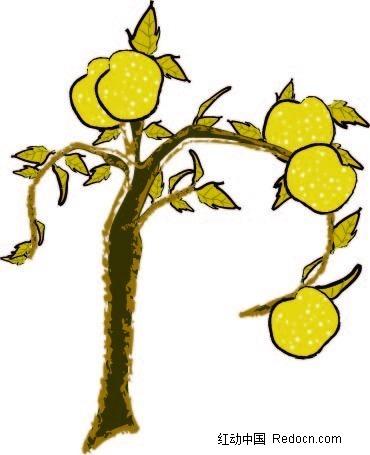 梨树怎么画简笔画