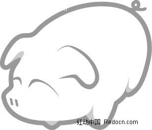 简笔画小猪AI素材免费下载 编号2320188 红动网