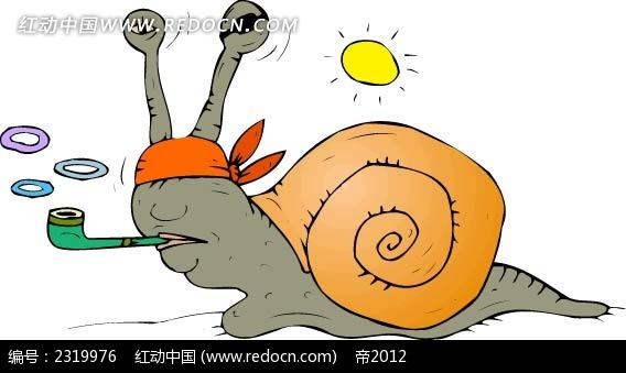 矢量卡通蜗牛插图