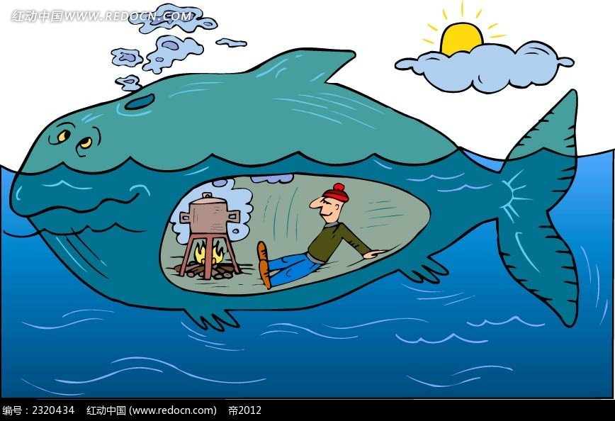 矢量鲸鱼插画