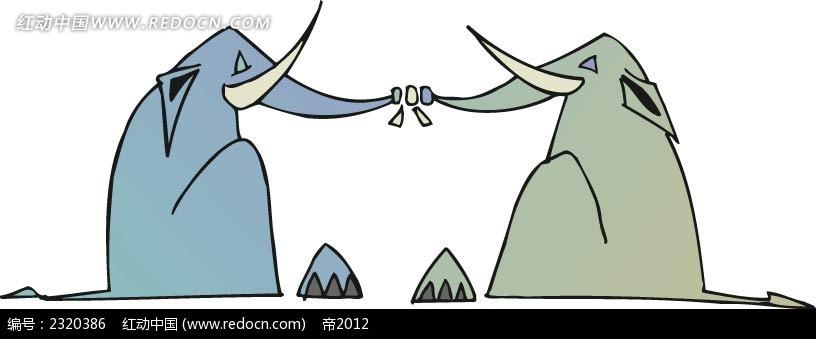 插图 手绘 色彩 动物