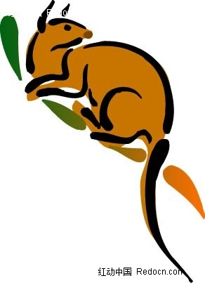 矢量动物 手绘彩色插画 宠物 矢量动物素材 卡通动物 矢量素材 狗 牛