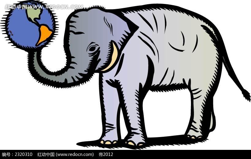 大象矢量插画素材