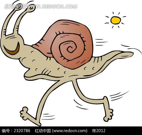 卡通蜗牛插图图片