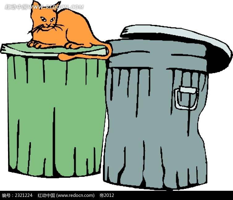卡通垃圾箱图片