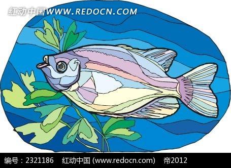 嘟嘴鱼动物卡通手绘插图