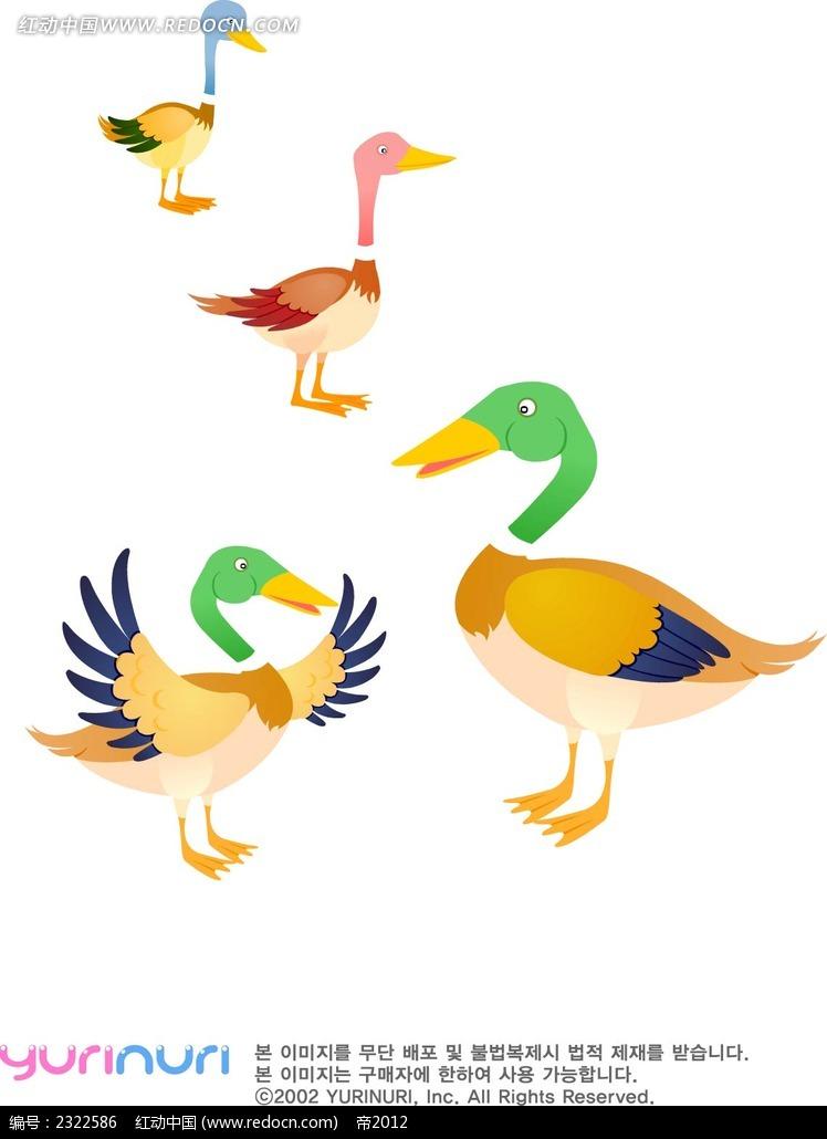 鸭子手绘图形