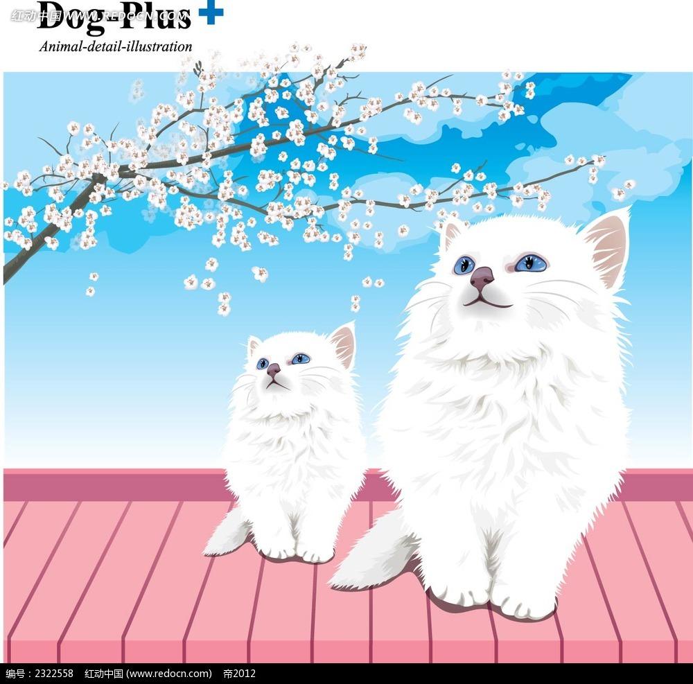 小猫猫妈妈手绘背景画