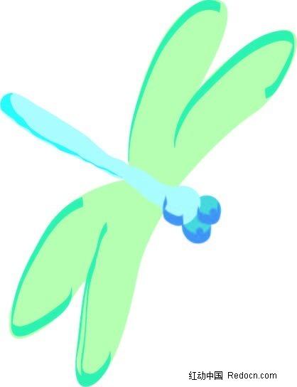 蜻蜓手绘图形