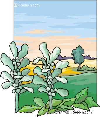 果子农场手绘背景画