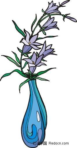 线描画 花瓶 二图片