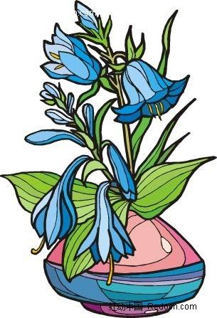 兰花手绘线描画