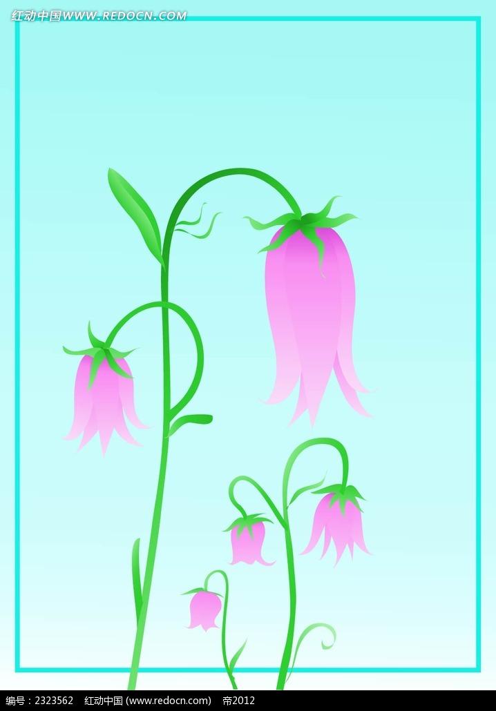 粉色小花图形背景  手绘画 手绘图形 图形图标 图形设计 手绘图形
