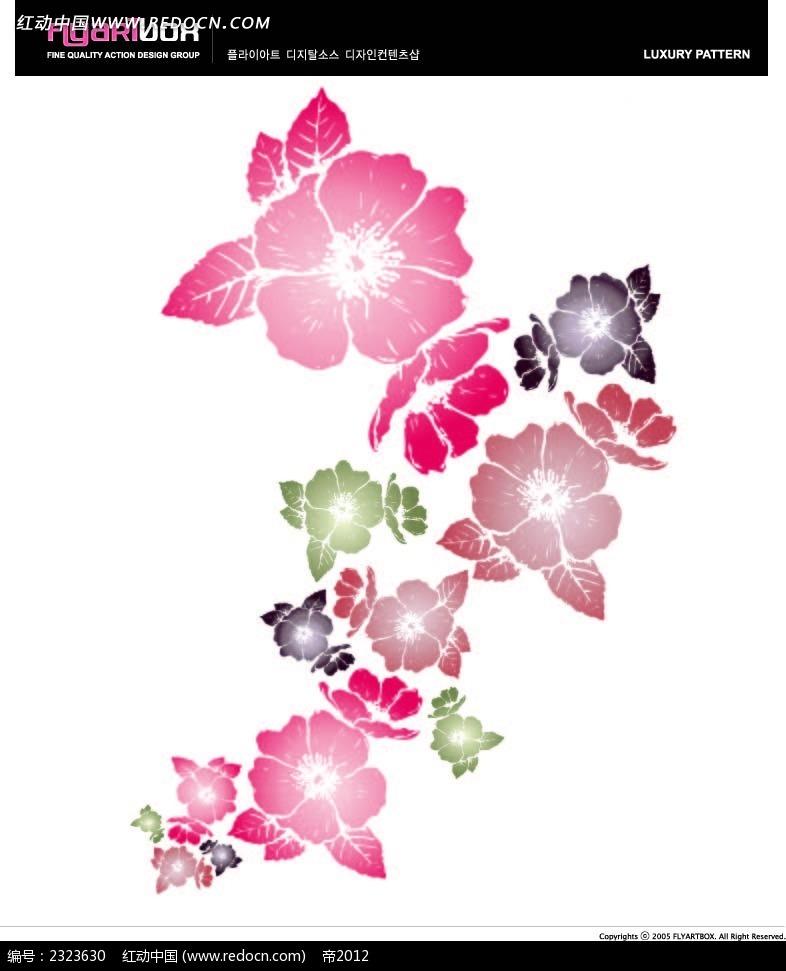 手绘小花背景图形