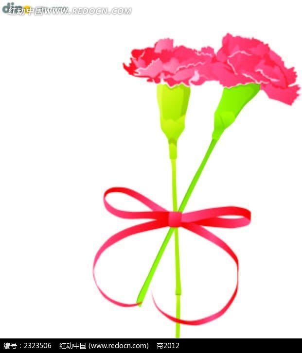 粉色康乃馨手绘画