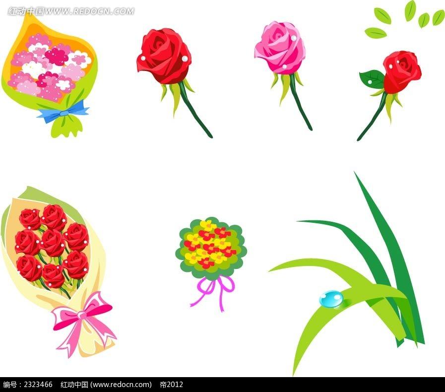 玫瑰花手绘画