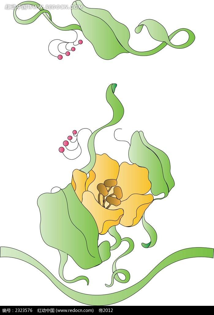 小黄花手绘画