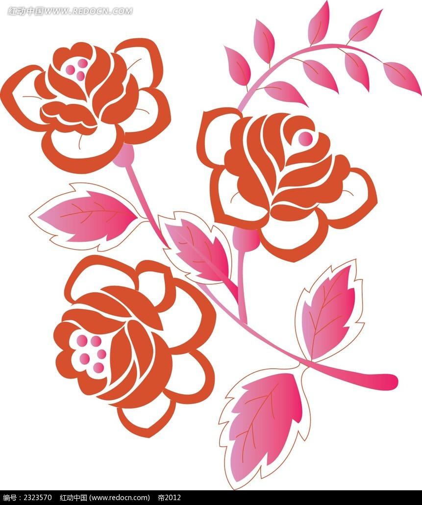 免费素材 矢量素材 花纹边框 花纹花边 手绘鲜花图形