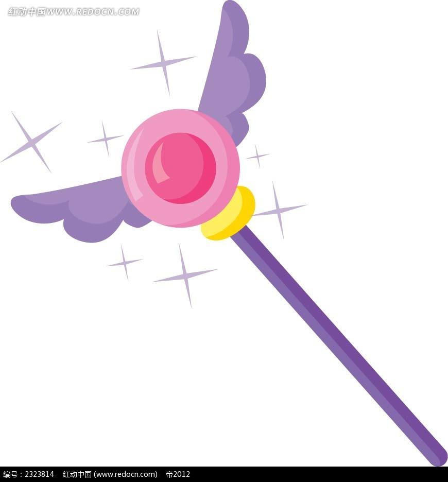 手绘天使棒图形