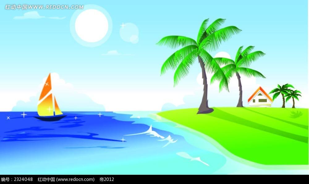 怎样画大海简笔画沙滩大海简笔画大海简笔画大全图片