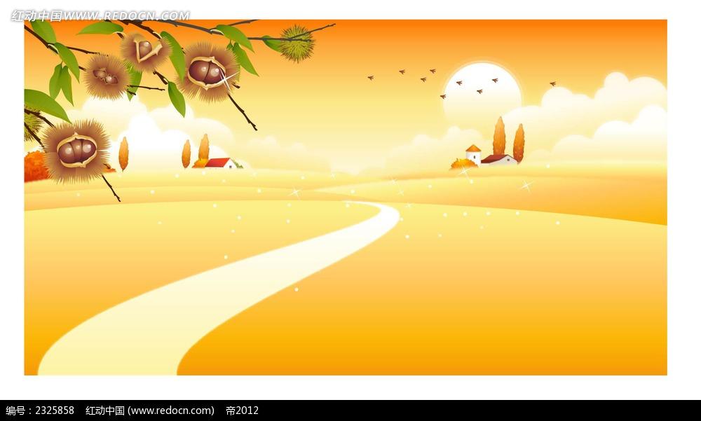 主题墙秋天边框设计图片