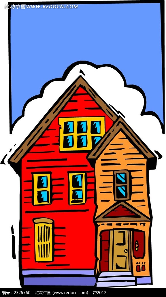 手绘卡通房子图片