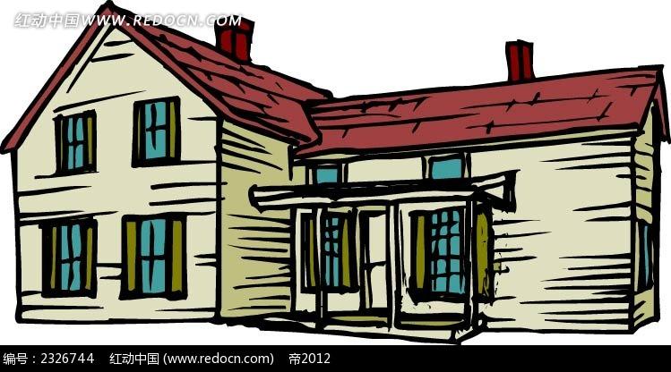 手绘房屋AI素材免费下载 编号2326744 红动网
