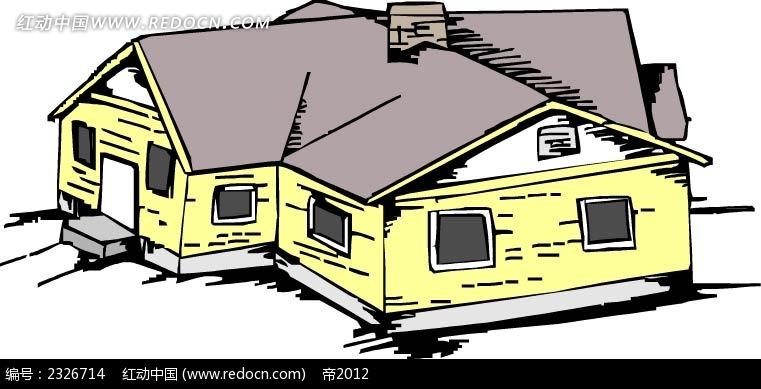 手绘卡通房子