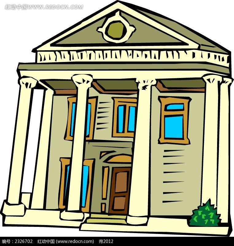 卡通欧式别墅图片