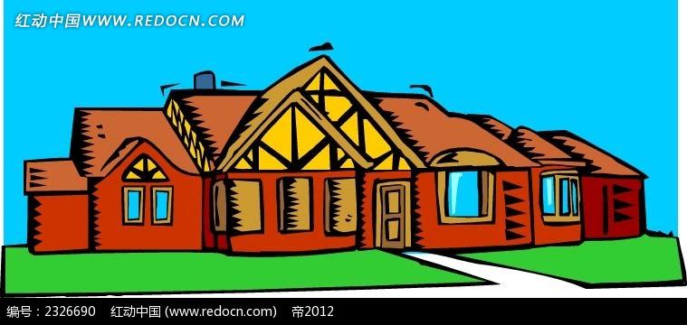 手绘卡通房屋
