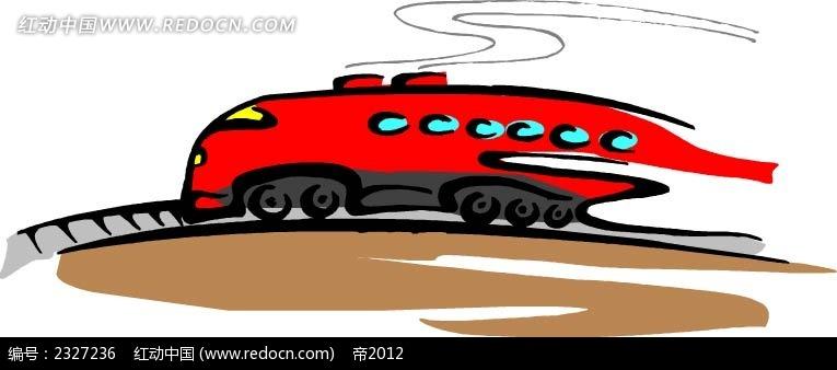 开动的火车手绘画
