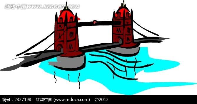 大桥手绘图形