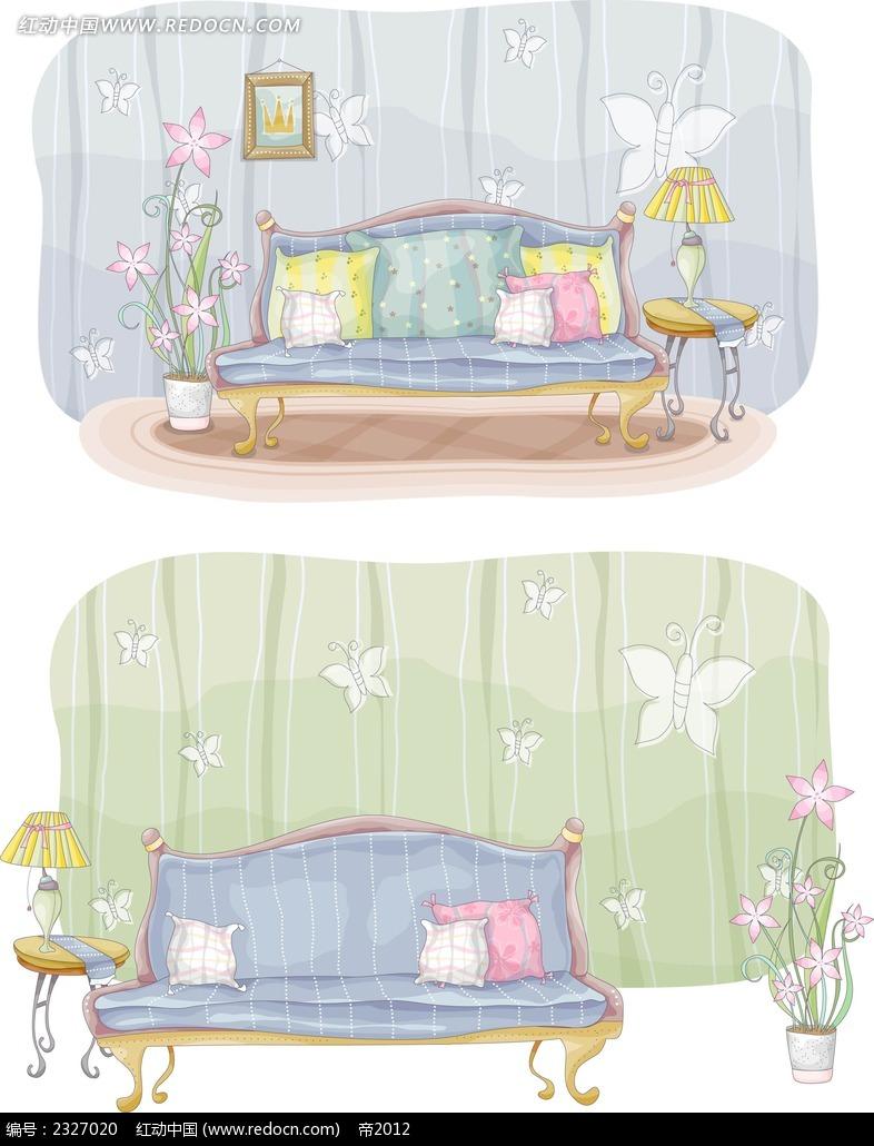 沙发手绘画