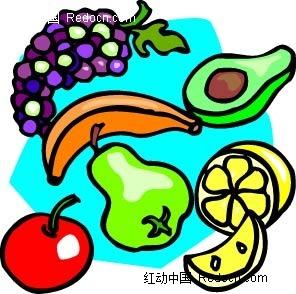 水果手绘线描图形