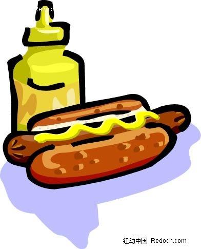 面包芝士手绘立体图形