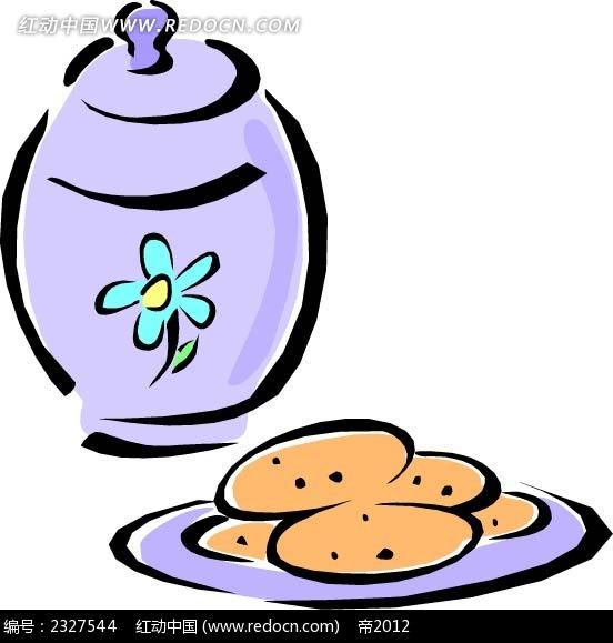 土豆煲汤罐子手绘图形