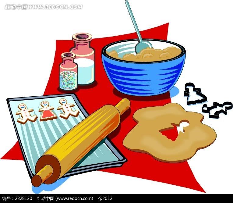 小人蛋糕模型手绘画