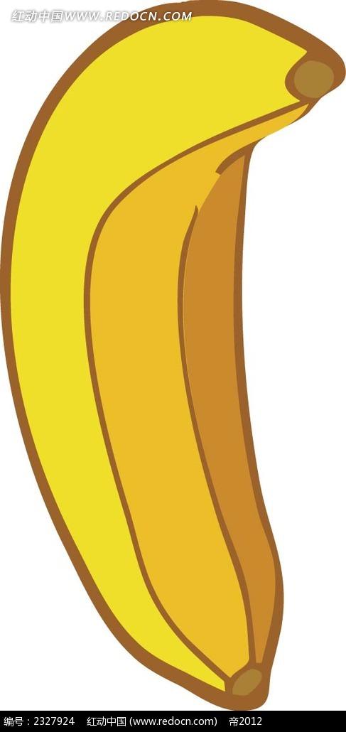 香蕉手绘立体图形