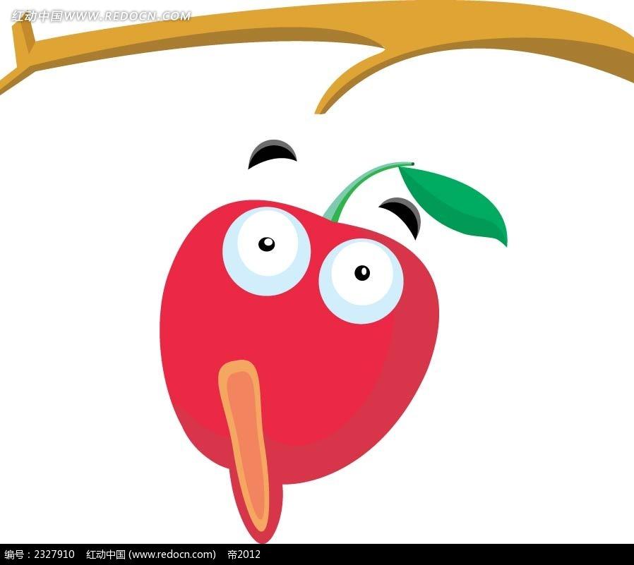 卡通苹果手绘立体图形