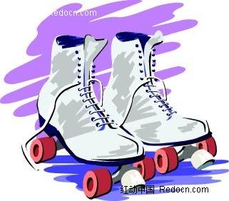 溜冰鞋手绘图形