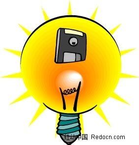 发光的灯泡手绘画AI素材免费下载 编号2331908 红动网