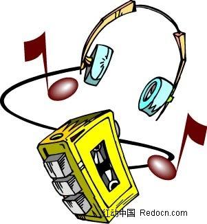 耳机音响手绘画