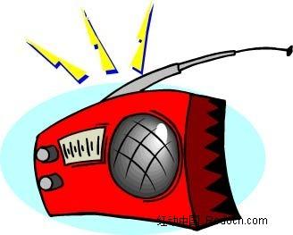 收音机手绘线描画