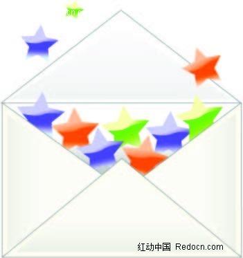 五角星信封手绘图形ai素材免费下载(编号2331806)_红