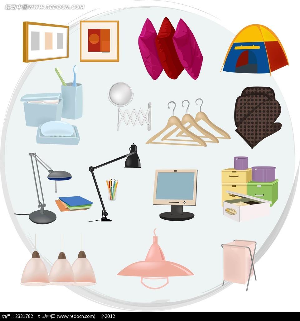 图形图标 图形设计 手绘图形 背景画 水彩画 矢量图形 工业产品画 ai