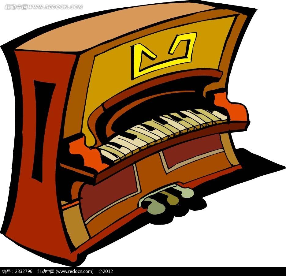 钢琴手绘画图形