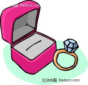 钻戒与首饰盒