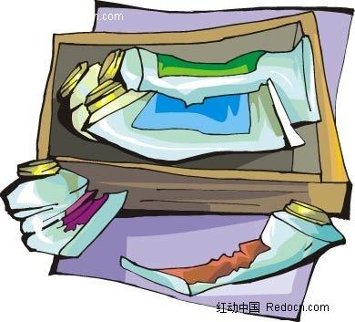 水彩颜料手绘图形