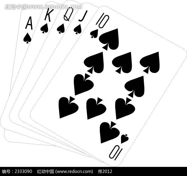 10-a扑克牌手绘画
